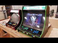 Plans for building a bartop arcade system using a Raspberry Pi Pi Arcade, Retro Arcade, Arcade Games, Bartop Arcade Plans, Arcade Cabinet Plans, Retro Pi, Borne Arcade, Arcade Joystick, Diy Desktop