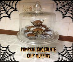 Halloween Pumpkin and Chocolate Chip Muffins