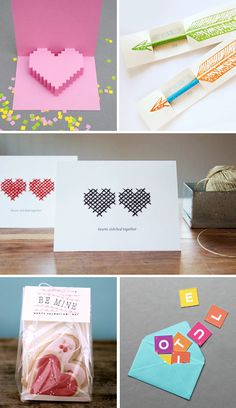Try making these DIY Valentine's Day greetings if you're the crafty sort!    #howaboutorange #diy #printables