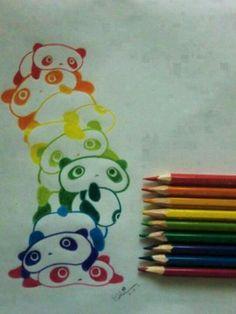 Cute pandas! Would be adorable on a tea set!