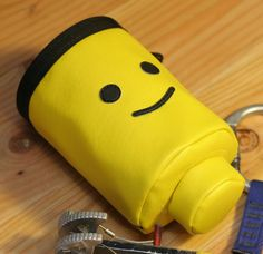 Mr. Lego Head, Hand Crafted Chalk Bag- Rock Climbing