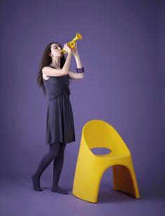 AMELIE chair, design by Italo Pertichini for SLIDE. Photo by Claudio Bonoldi.