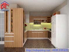 Tủ bếp MFC vân gỗ mang vẻ đẹp cuốn hút cho căn bếp hiện đại MTB050