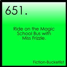 Fiction Bucket List: Magic School Bus.