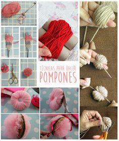 Como hacer muñecos con pompones de lana - Técnicas para hacer pompones