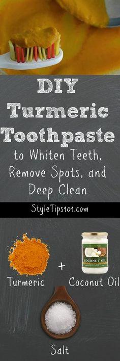 DIY Turmeric Toothpaste