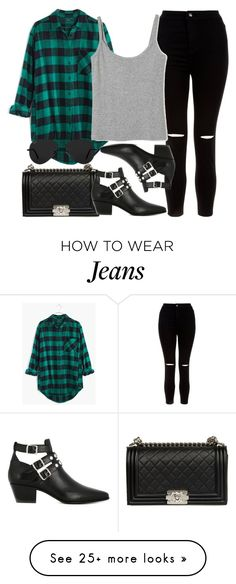 """""""Style #10895"""" by vany-alvarado on Polyvore featuring Madewell, New Look, Chanel, Yves Saint Laurent and Ray-Ban"""