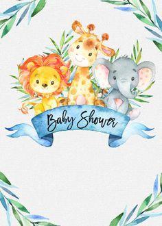 Baby Shower Parties, Baby Shower Themes, Baby Boy Shower, Karten Diy, Baby Shower Invitaciones, Invitations, Babyshower, Decoration, Painted Stools