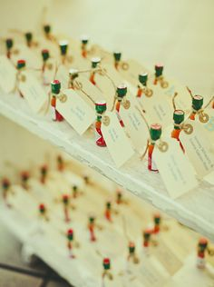 OH DAMN! Trevor, can I have your attention please? Mini Tabasco Place Cards... YES!