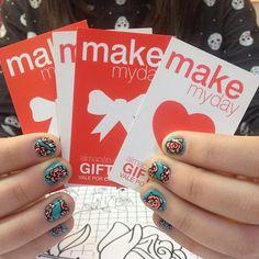 feliz primavera #mk #mkmyday #nails #nailart #instanails #love #roses…