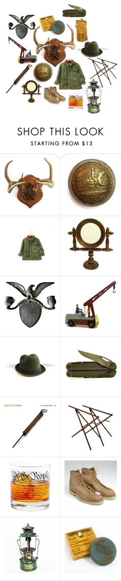 """Oh Give Me a Home"" by patack ❤ liked on Polyvore featuring American Eagle Outfitters, Stetson, Leatherman, Cadeau, Coleman, vintage, men's fashion and menswear"
