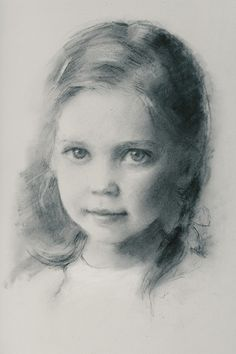 """Lilah Rose in Charcoal on Toned Paper"" by portraitgirl 