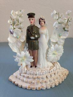 Vintage 1940's Wedding Cake Topper Groom in by VintageSaleAway