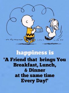 'Happiness is...', Charlie Brown & Snoopy.