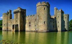 Bodiam Castle,  East Sussex, England...    www.castlesandmanorhouses.com   ...    Bodiam Castle is a 14th-century moated castle. It was built in 1385 by Sir Edward Dalyngrigge, a former knight of Edward III, with the permission of Richard II, to defend the area against French invasion during the Hundred Years' War. It has been owned by The National Trust since 1925, when it was donated by Lord Curzon on his death. It is open to the public.
