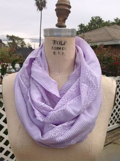 Purple lace infinity scarf by DMerille on Etsy, $20.00