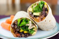 This black bean wrap is a lunchtime favorite - especially if you are pressed for time. A quick healthy plant-based meal that's easily made gluten free.