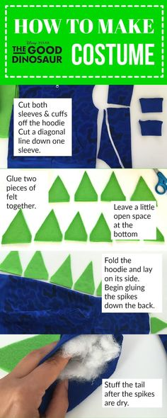 The Good Dinosaur Costume diy idea and tutorial for dress up play or party or even Halloween Costume