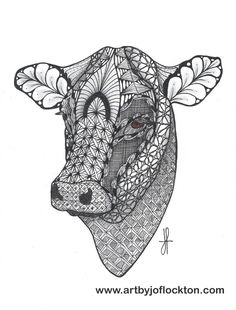 Tangled Cow Head, $19.25, using Ben Kwok's template from Ornation Creation