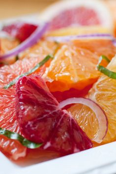 This citrus salad requires only that you overcome the notion that salads must be green; it's a novel and wonderful antidote to sorry-looking lettuce. If you're lucky and can find blood oranges, use them; same with the odd, supremely delicious and usually quite pricey pomelos. (Photo: Evan Sung for The New York Times)