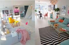 #Color Una casa llena de color que nos ha enamorado.http://www.diariodeco.com/2018/03/una-casa-de-luz-y-color.html