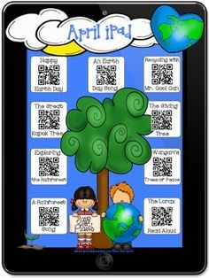 April Stories iPad QR Codes~Scan for Listening Center with
