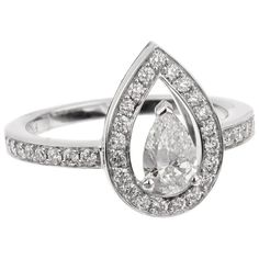 Opulent Jewelers Jewelry & Watches - 1stDibs - Page 3 Pear Shaped Engagement Rings, Diamond Engagement Rings, Pear Shaped Diamond, Diamond Cuts, Colored Diamonds, Heart Ring, Jewelry Watches, Paris, Jewels