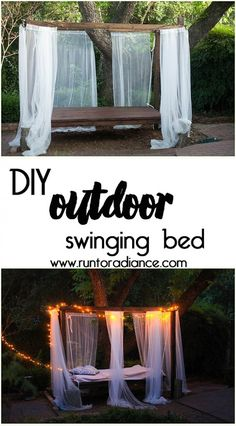 How cool would this be to have in your backyard? I can imagine all the naps I'd take! I want an outdoor swinging bed so bad!