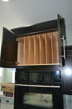 Love the size/placement of these racks above the wall oven