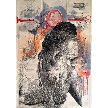Medicine Man I - 3_15 State III (for Marius) Moose Art, Medicine, Painting, Animals, Animais, Animales, Animaux, Medical, Painting Art
