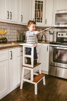 Little Chef Stool TOP, Kitchen Helper, Kid Step Stool, Toddler Step Stool, Modern Step Stool, Rustic Step Stool