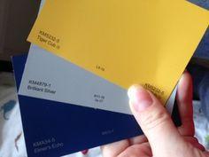 Ideas Bedroom Dark Blue Curtains Accent Walls For 2019 Yellow Accent Walls, Yellow Couch, Grey Walls, Yellow Accents, Dark Walls, Dark Blue Curtains, Colorful Curtains, Dark Gray Bedroom, Yellow Walls Bedroom