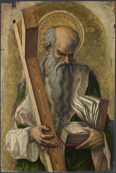 Saint Andrew / San Andrés // 1476 // Carlo Crivelli // This painting is part of the group: The Demidoff Altarpiece // National Gallery, London // #apostle #martyr