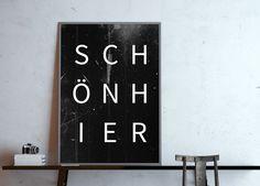 **schön hier** Das Poster für ein schönes Zuhause! Typo-Poster in DIN A4 - Digitaldruck (ohne Rahmen) *UPGRADE Postergröße* Das Poster kannst Du gegen einen Aufpreis auch in DIN A3, in DIN...