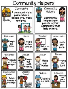 Fun and engaging community helpers poster.You can find Community helpers and more on our website.Fun and engaging community helpers poster. Community Helpers Kindergarten, Community Helpers Activities, Kindergarten Social Studies, Community Helpers Art, Community Service, Preschool Lessons, Preschool Classroom, Preschool Learning, Preschool Activities