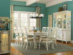 Another white dining set option