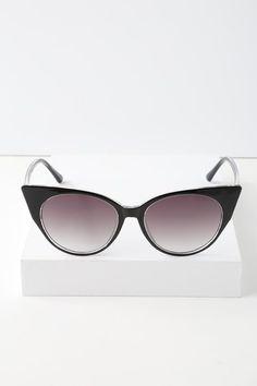 1e338c0971 Tallulah Black Cat-Eye Sunglasses 2. Red Vine Boutique