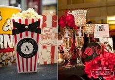 Popcorn bar & centerpieces
