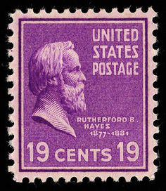19c Rutherford B. Hayes single