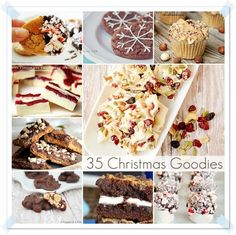 I am going to make the intro short but the post sweet. Here you have 35 delicious Christmas Recipes that were linked up to the party. One an each of these are drool worthy... Enjoy! Holiday Bark by Scattered Thoughts of a Crafty Mom Lemon Doodles by Nº 2 Pencil. Chocolate Covered Cherry Cookies...