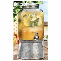 awesome Home Essentials 4842 Del Sol 2 Gallon Beverage Dispenser With Galvanized Stand,  #HomeEssentialsJuicers&Blenders