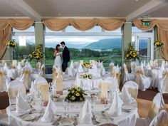 Castlerosse Park Resort in Killarney, Kerry, Munster, caters for weddings of 210 from per person. Wedding Catering, Wedding Venues, Park Resorts, 5 Star Hotels, Castle, Homes, Table Decorations, Holiday, Home Decor