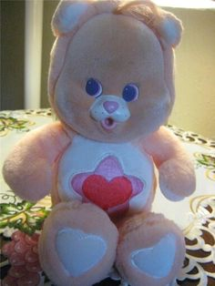 """Care Bear Cousin CAT Cubs Lil Proud Heart Flocked 1986 Kenner 10"""""""