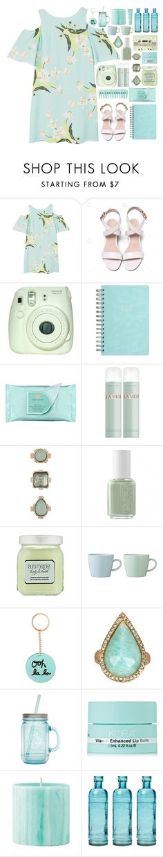 """Cause boy, I'm in your waterfall."" by annaclaraalvez ❤ liked on Polyvore featuring MANGO, Fuji, Estée Lauder, La Mer, 10 Bells, Essie, Laura Mercier, Bloomingville, ban.do and Karen Kane"