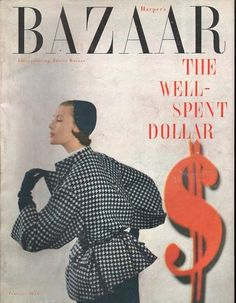 Mary Jane Russell, photo by Genevieve Naylor, Harper's Bazaar, February Look Magazine, Fashion Magazine Cover, Fashion Cover, Fashion Photo, Magazine Covers, Old Magazines, Vintage Magazines, Vintage Outfits, Vintage Fashion