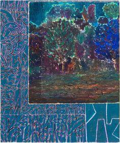 """John McAllister, Dusk Deserted Field Lights, 2010, oil on canvas 19 x 16"""""""