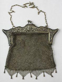 Vintage German Silver Mesh Purse