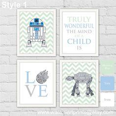 AT-AT  R2-D2 Star Wars Nursery Art Print. Star by waiwaiartprints