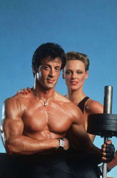 Sylvester Stallone et Brigitte Nielsen à l'entrainement© Photo sous Copyright