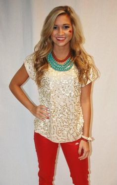 38 cute Christmas outfits for girls - Sparkling Love Cream - Christmas outfit so cute!